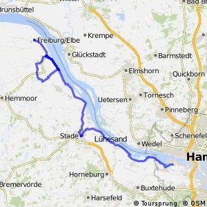 [D10] Elberadweg [Abschnitt B] Freiburg (Elbe) - Lühe [linkselbisch]