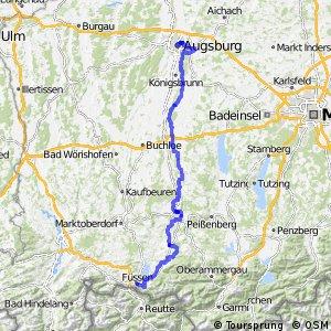 [D9] Weser-Romantische Straße [Bayern: Augsburg - Füssen]