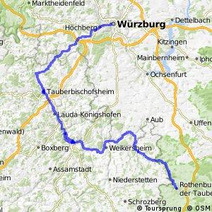 [D9] Weser-Romantische Straße [Bayern: Würzburg - Rothenburg]
