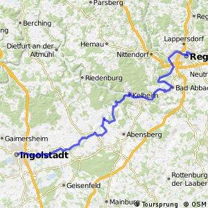 Radroute [D6] Donauroute [Ingolstadt - Regensburg]
