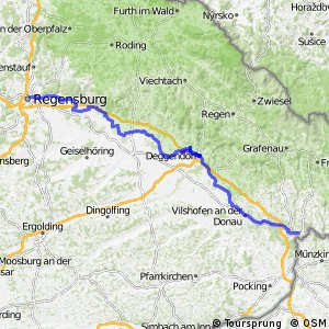 Radroute [D6] Donauroute [Regensburg - Passau]
