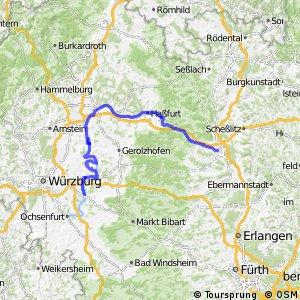 Radroute [D5] Saar-Mosel-Main [Kiitzingen - Bamberg]