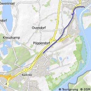 Radroute (Alltag) HL27 Herrentunnel - Travemünde