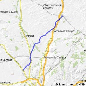 GR-89 BTT Canal de Castilla (Ramal Norte Etapa Fromista - Hoyos)