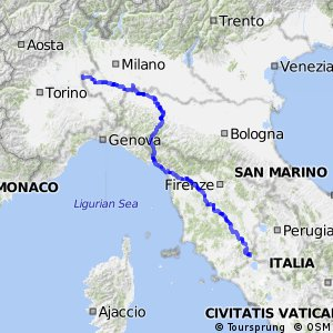 EuroVelo 5 - part Italy