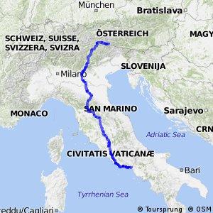 EuroVelo 7 - part Italy