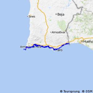 Rota da Costa Atlântica - parte Portugal
