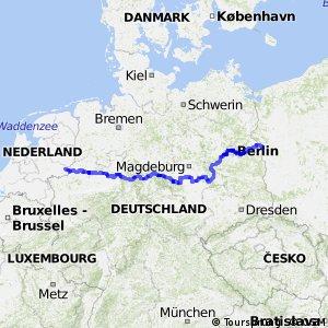 Hauptstadt-Route - Teil Deutschland