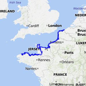 La route de l'Europe centrale - tronçon France