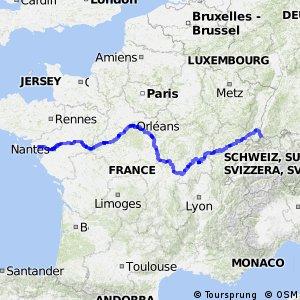 Atlantique-Mer Noire - tronçon France
