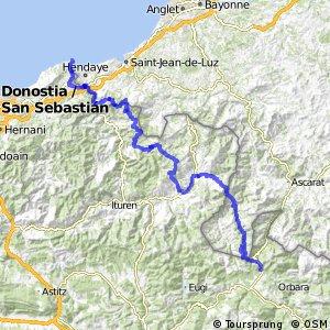 Ruta Transpirenaica en BTT (Roncesvalles - Hondarribia)
