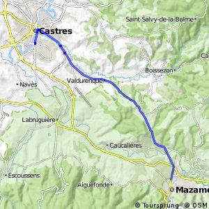 Liaison vélo Castres-Mazamet