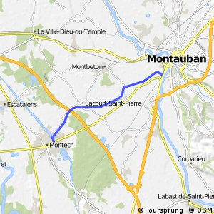 Chemin du canal Montech-Montauban