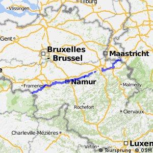 La route des pèlerins - portion Belgique