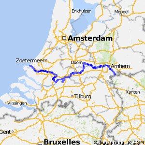 Rijnfietsroute - deel Nederland