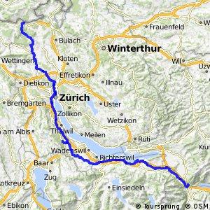 rcn 32 - Rhein–Hirzel–Linth (Kaiserstuhl–Niederurnen (Ziegelbrücke))