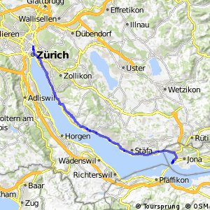 rcn 66 - Etappe 1 (Rapperswil–Zürich)