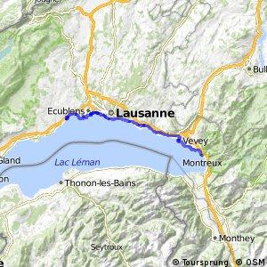 ncn 1 - Rhone-Route - Etappe 6 (Montreux–Morges)