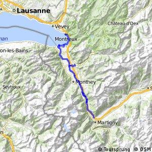 Route du Rhône - Etappe 5 (Martigny–Montreux)
