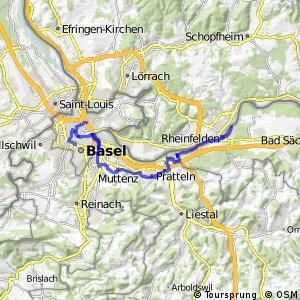 ncn 2 - Etappe 9 (Rheinfelden–Basel)