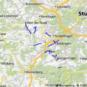 Radwegenetz Landkreis Böblingen