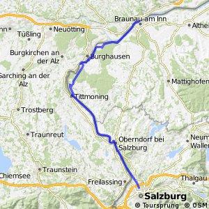 Tauernradweg, Etappe Salzburg - Braunau