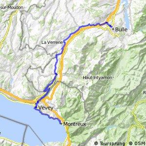 ncn 9 - Etappe 1 (Montreux-Bulle)