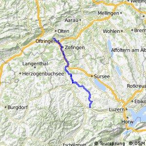rcn 73 - Etappe 1 (Olten (Aarburg)–Wolhusen (Werthenstein))