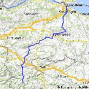 rcn 41 - Etappe 1 (Kreuzlingen–Fischingen)