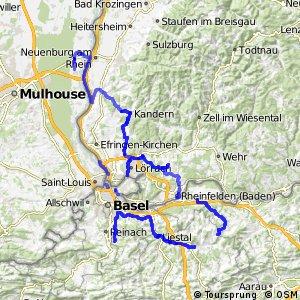 Dreiland-Radweg (Basel (Dornach)-Mulhouse-Rheinfelden-Basel (Dornach))