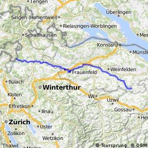 rcn 95 - Etappe 1 (Andelfingen (Ellikon a.R.)–Bischofszell)