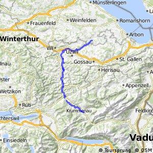 rcn 95 - Etappe 2 (Bischofszell–Nesslau)