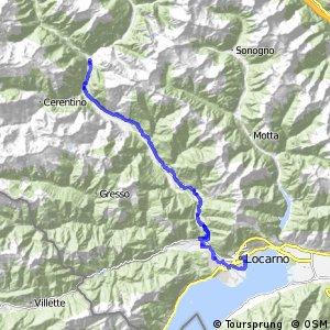 rcn 31 Percorso Valle Maggia (Etappa 2 Locarno - Cavergno)
