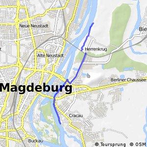 [D10] Elberadweg Alternativroute Magdeburg [rechtselbisch]