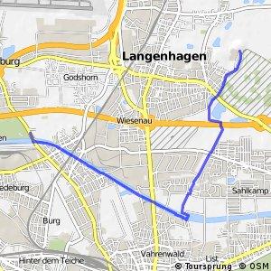 Grüner Ring Hannover - Innenschleife Vahrenheide
