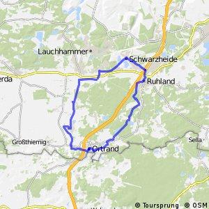 Die Ruhlander Heide-Tour - Rundweg