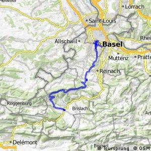 Jura Bike - Etappe 1 (Basel-Laufen)