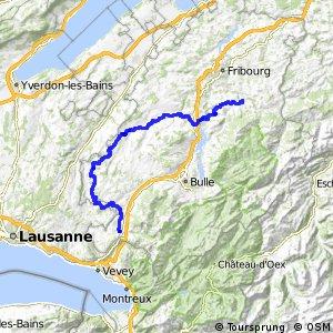 rcn 62 - Sense-Glâne-Veveyse (Schwarzenburg-Châtel-St-Denis)