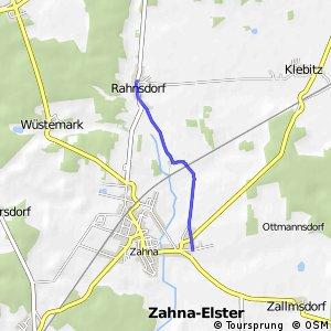 Markierte Zubringerroute zum Radweg Berlin Leipzig