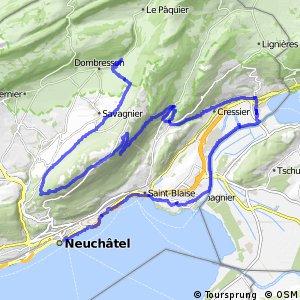 Neuchâtel Bike - Étape 1 (Neuchâtel - Chézard-St. Martin (Villiers)