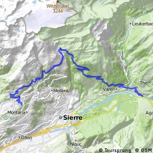 Wallis Panorama Bike Etape 3 (Crans Montana–Leuk)