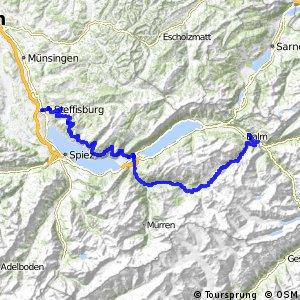 rcn 61 - Berner Oberland-Route (Thun (Steffisburg) - Meiringen)