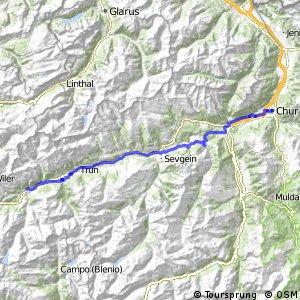 ncn 2 - Etappe 2 (Disentis-Chur)