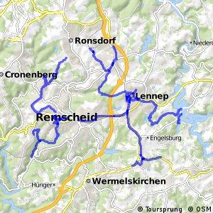 Radverkehrsnetz NRW, Stadt Remscheid