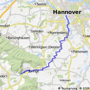 Fahrradregion Hannover - Regionsroute 1