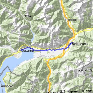 rcn 31 Percorso Valle Maggia (Etappa 1 Belinzona - Locarno)