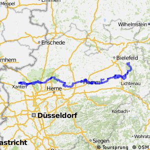 Römer-Lippe-Route mit Schleifen