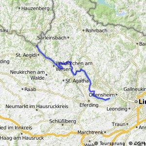 EuroVelo 6 - part Austria - leg 1 north (Passau - Ottensheim)