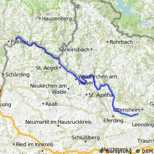 EuroVelo 6 - part Austria - leg 1 south (Passau - Ottensheim)