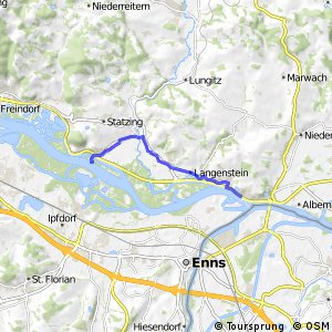 EuroVelo 6 - part Austria - leg 4 north (Sankt Georgen - Mauthausen)